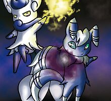 Meowstic Double Attack by The-Dreamer