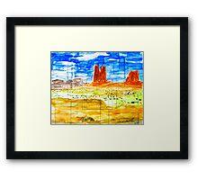 Windows on the Desert  Framed Print