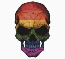 Gay Pride Rainbow Flag Skull Kids Tee