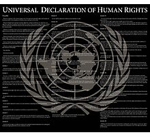 Universal Declaration of Human Rights Photographic Print
