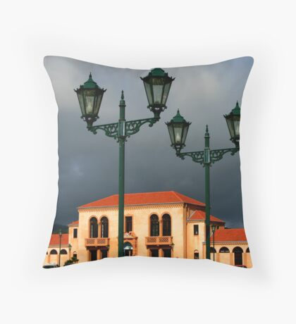 The Blue Baths, Rotorua. NZ Throw Pillow