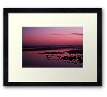 Gorgeous pink beach sunset Framed Print