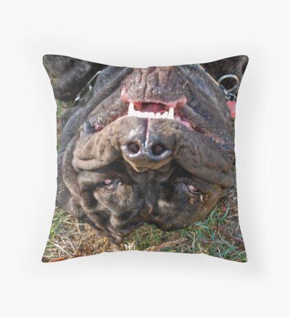 'Upside down!' Throw Pillow