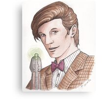 "Eleventh Doctor say ""Geronimo!"" Canvas Print"