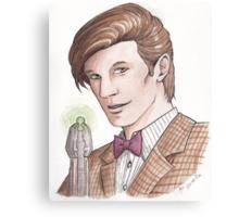 "Eleventh Doctor say ""Geronimo!"" Canvas Print"