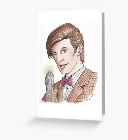 "Eleventh Doctor say ""Geronimo!"" Greeting Card"