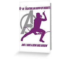 Hawkeye Greeting Card