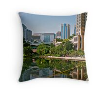 Ground Level of the Petronas Towers Throw Pillow