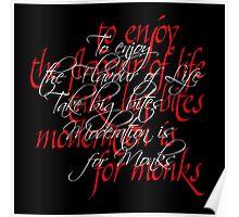 Calligraphic letterforms - Take Big Bites Poster