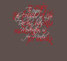 Calligraphic letterforms - Take Big Bites Mens V-Neck T-Shirt
