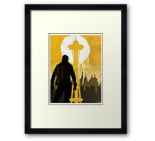 ISS - Space Needle Framed Print