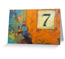 Lucky Number Seven - Abstract by Holly Cannell Greeting Card