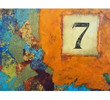Lucky Number Seven - Abstract by Holly Cannell Photographic Print