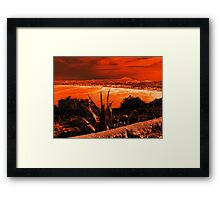 Orange Coast Framed Print