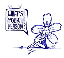 What's Your Reason Flowerkid Photographic Print