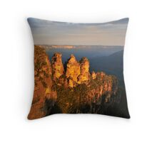 Three Sisters at sunset Throw Pillow