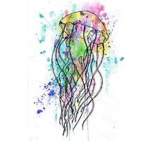 Watercolour Jellyfish Photographic Print