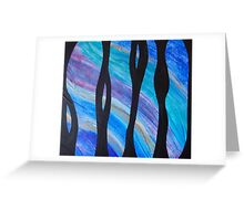 Underwater Outlook a Painting by Holly Cannell Greeting Card