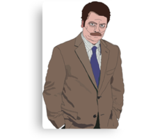 Ron Swanson Drawing Canvas Print