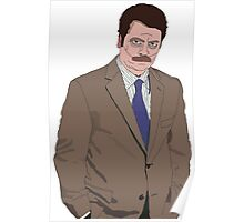 Ron Swanson Drawing Poster