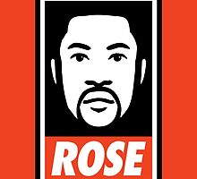 """DERRICK ROSE"" - OBEY STYLE by FACKINDESIGNS"