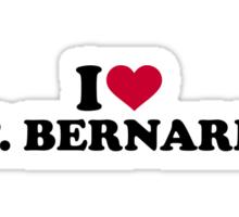 I love St. Bernards Sticker