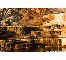 Mammoth Hot Springs, Yellowstone National Park Photographic Print