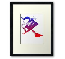 Shulk Super Smash Bros X Final Fantasy Logo (No Name) Framed Print