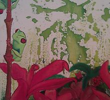 Red Eye Tree Frog by JackofallTrades