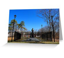Statue Of Nikola Tesla In Front Of Wardenclyffe Laboratory Building | Shoreham, New York Greeting Card