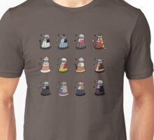 Daleks in Disguise Pattern Unisex T-Shirt