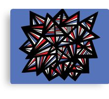 Balon Abstract Expression Red Blue Canvas Print
