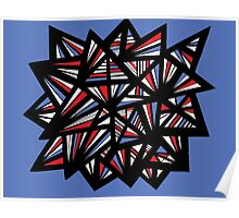 Balon Abstract Expression Red Blue Poster