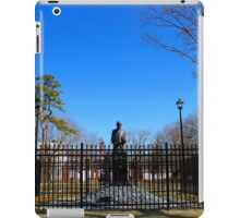 Statue Of Nikola Tesla In Front Of Wardenclyffe Laboratory Building | Shoreham, New York iPad Case/Skin