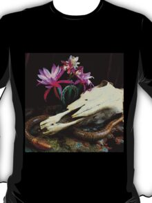 Western Union - Cactus With Orchids T-Shirt