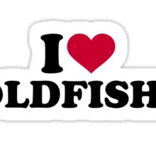 I love goldfishes Sticker