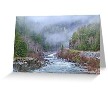 Peaceful Foggy Morning Greeting Card