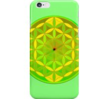 Green flower of life iPhone Case/Skin