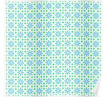 Delicate Blue Flowers Poster