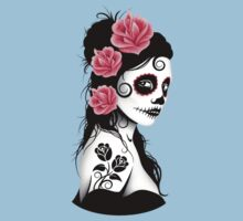 Pink Day of the Dead Sugar Skull Girl Kids Clothes