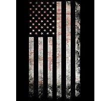 Vintage USA Flag Photographic Print