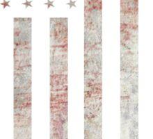 Vintage USA Flag Sticker