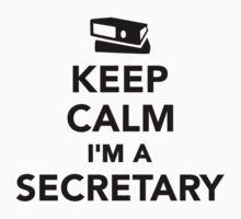 Keep calm I'm a secretary Kids Tee