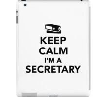 Keep calm I'm a secretary iPad Case/Skin