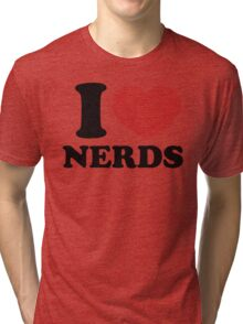I Love Nerd ..Pi Tri-blend T-Shirt