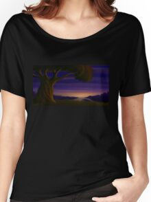 Fantasy Tree at Twilight - Landscape Digital Painting Women's Relaxed Fit T-Shirt