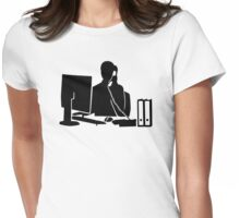 Secretary office woman Womens Fitted T-Shirt