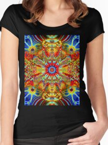 Cosmic Creatrip2 - Psychedelic trippy visuals Women's Fitted Scoop T-Shirt