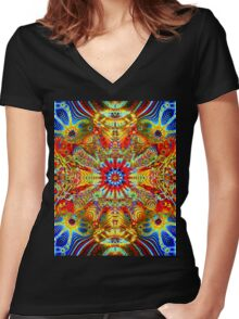 Cosmic Creatrip2 - Psychedelic trippy visuals Women's Fitted V-Neck T-Shirt