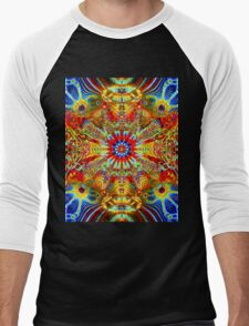 Cosmic Creatrip2 - Psychedelic trippy visuals Men's Baseball ¾ T-Shirt